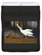 Relaxed Swan Duvet Cover