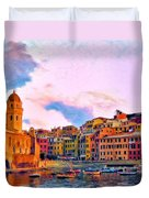 Relaxing Around Vernazza Duvet Cover