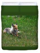Relaxing Red Fox Duvet Cover