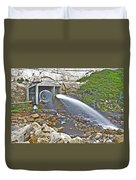 Release And Discharge Lower Bear River Duvet Cover