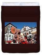 Religious Festival In Azores Duvet Cover