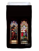 Religious Stained Windows Duvet Cover