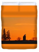 Remains Of A Farm Panorama Duvet Cover