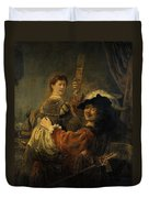 Rembrandt And Saskia In The Parable Of The Prodigal Son Duvet Cover