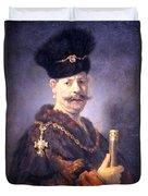Rembrandt's A Polish Nobleman Duvet Cover