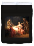 Rembrandt's Joseph Accused By Potiphar's Wife Duvet Cover
