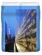 Remembering 9/11-hope And Despair Duvet Cover
