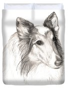 Remembering Maggie - A Tribute To A Collie Duvet Cover