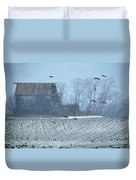 Remembering The Farm Duvet Cover
