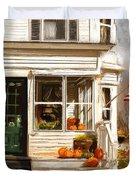 Remembering When- Porches Art Duvet Cover