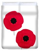 Remembrance Day Poppies Duvet Cover