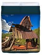 Remnants Of The Colorado Gold Rush Duvet Cover