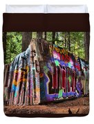 Remnants Of The Whister Train Wreck Duvet Cover