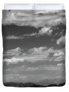 Remote Desert Road To Mountains Duvet Cover