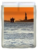 Remote Lady Liberty Duvet Cover