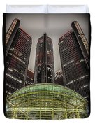 Renaissance Center Detroit Michigan Duvet Cover by Nicholas  Grunas