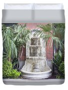 Renaissance Style Water Fountain Duvet Cover