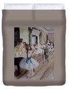 Dance Class By Degas Duvet Cover