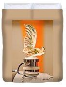 Rene Lalique -coq Nain - 1930 Bentley Speed Six H.j Mulliner Saloon Hood Ornament Duvet Cover