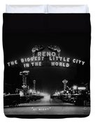Reno Nevada The Biggest Little City In The World. The Arch Spans Virginia Street Circa 1936 Duvet Cover