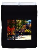 Reno Riverwalk In The Fall Duvet Cover