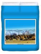 Reno Skyline Poster Duvet Cover