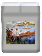 Renoir's Oarsmen At Chatou Duvet Cover