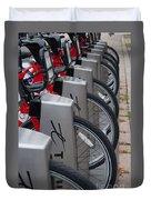 Rental Bikes Duvet Cover