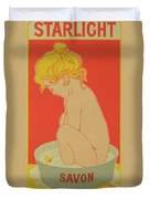 Reproduction Of A Poster Advertising Starlight Soap Duvet Cover by Henri Meunier