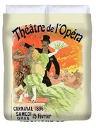 Reproduction Of A Poster Advertising The 1896 Carnival At The Theatre De L'opera Duvet Cover