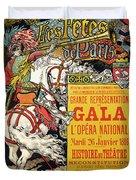 Reproduction Of A Poster Advertising The Fetes De Paris Duvet Cover