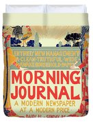 Reproduction Of A Poster Advertising The Morning Journal Duvet Cover
