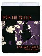 Reproduction Of A Poster Advertising Victor Bicycles Duvet Cover