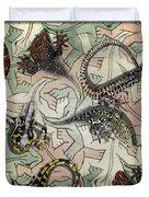 Reptiles - Inspired By Escher - Elena Yakubovich Duvet Cover