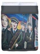 Republican Murals Against British Rule Duvet Cover