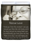Rescue Love Adoption Duvet Cover