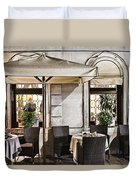 Reservations Only Venice Italy Duvet Cover