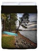 Reservoir Shoreline Duvet Cover