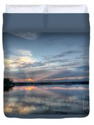 Reservoir Sunset Duvet Cover