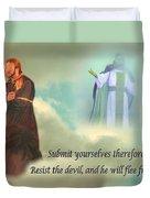 Resist The Devil Duvet Cover
