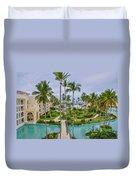 Resort In Dominican Republic Duvet Cover