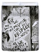 Respect Women Graffiti Duvet Cover