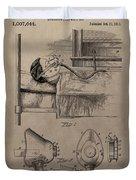 Respirator Patent Illustration 1911 Duvet Cover