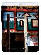 Rest In Paradise Duvet Cover