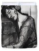Rest - Pia #8 - Figure Series Duvet Cover by Mona Edulesco
