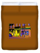 Restaurant El Pintxo Rue Roy Plateau Montreal Basque Food Spanish Cafe City Scene Art Carole Spandau Duvet Cover