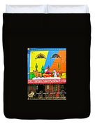 Restaurant In Gateway To The Amazon River In Iquitos-peru Duvet Cover