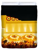 Restaurant Lit Up At Night, Miami Duvet Cover