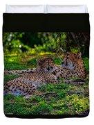 Resting Cheetahs Duvet Cover
