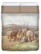 Resting In The Field  Duvet Cover by Charles James Adams